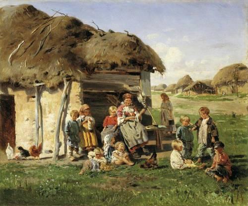 Крестьянские дети маковский в е